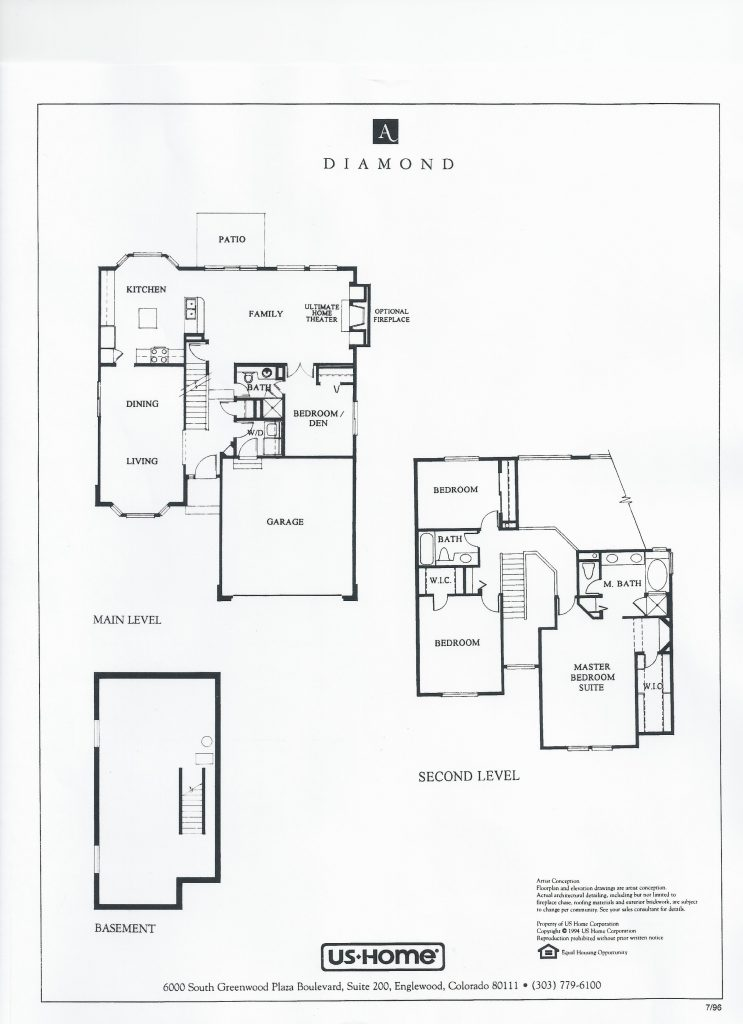 Diamond Partial Basement Floor Plan
